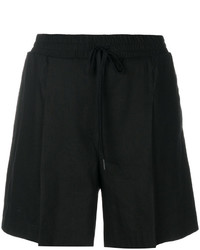 Pantalones cortos de lino negros de DKNY