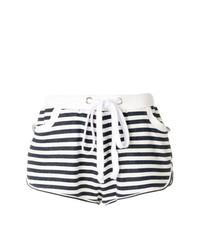 Pantalones cortos de rayas horizontales en blanco y negro de Natasha Zinko