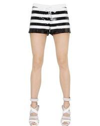 Pantalones cortos de rayas horizontales en negro y blanco de Philipp Plein