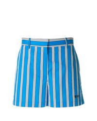 Pantalones cortos de rayas verticales azules de MSGM