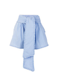 Pantalones cortos de rayas verticales celestes de MSGM