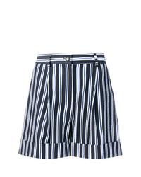 Pantalones cortos de rayas verticales en azul marino y blanco de P.A.R.O.S.H.