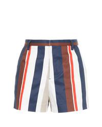 Pantalones cortos de rayas verticales en blanco y azul marino de GUILD PRIME