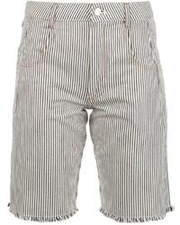 Pantalones cortos de rayas verticales en blanco y negro de Alexander Wang