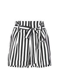 Pantalones cortos de rayas verticales en blanco y negro de L'Agence