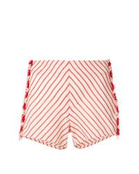 Pantalones cortos de rayas verticales en blanco y rojo de Dodo Bar Or