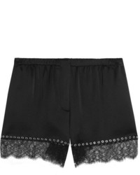Pantalones cortos de satén negros de Alexander Wang