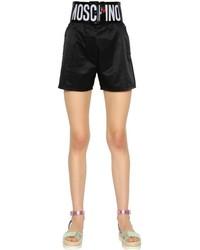 Pantalones cortos de satén negros de Love Moschino
