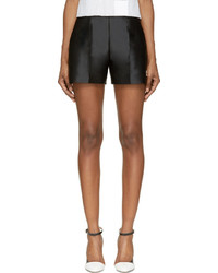 Pantalones cortos de satén negros de Moncler Gamme Rouge