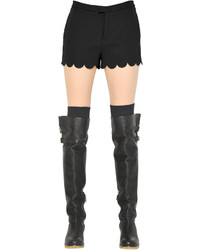 Pantalones cortos de satén negros de RED Valentino