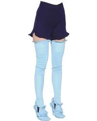 Pantalones Cortos de Seda Morado Oscuro de Fendi
