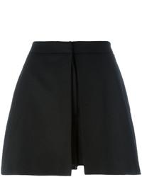Pantalones cortos de seda negros de Alexander McQueen