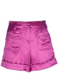 Pantalones cortos de seda rosa de Sonia Rykiel