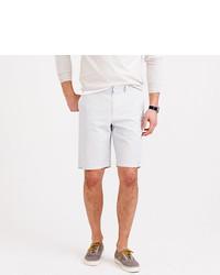 Pantalones cortos de seersucker blancos
