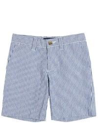 Pantalones cortos de seersucker celestes de Ralph Lauren