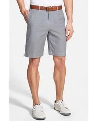 Pantalones cortos de seersucker grises de Bobby Jones