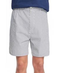 Pantalones cortos de seersucker grises de MAISON KITSUNÉ
