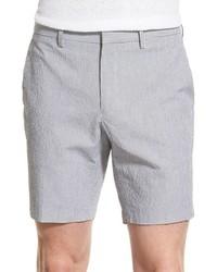 Pantalones cortos de seersucker grises de Michael Kors