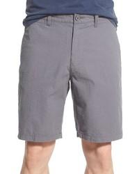 Pantalones cortos de seersucker grises