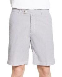 Pantalones cortos de seersucker grises de Peter Millar