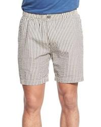 Pantalones cortos de seersucker grises de Vintage 1946