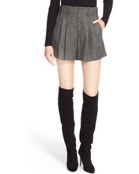 Pantalones cortos de tweed grises de Alice + Olivia