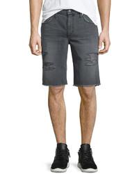 Pantalones cortos desgastados en gris oscuro de Joe's Jeans