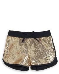 Pantalones cortos dorados