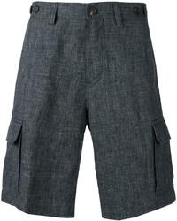 Pantalones cortos en gris oscuro de Brunello Cucinelli