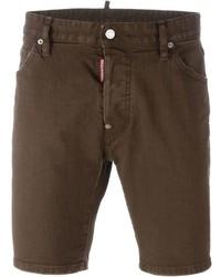 Pantalones cortos en marrón oscuro de DSQUARED2