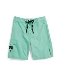 Pantalones cortos en verde menta de Billabong