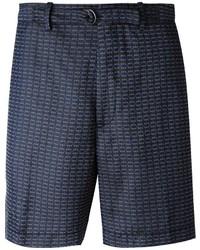 Pantalones cortos estampados azul marino de Lanvin