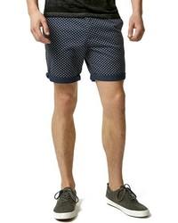 Pantalones cortos estampados azul marino de Topman