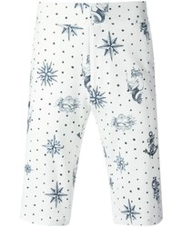 Pantalones cortos estampados blancos de Alexander McQueen