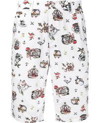 Pantalones cortos estampados blancos de GUILD PRIME