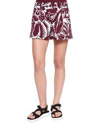 Pantalones cortos estampados burdeos de Marc Jacobs