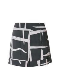 Pantalones cortos estampados en gris oscuro de Lorena Antoniazzi