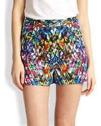 Pantalones cortos estampados en multicolor