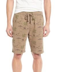 Pantalones cortos estampados marrón claro de Tailor Vintage