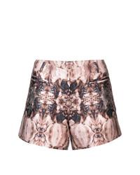 Pantalones cortos estampados marrónes de Thomas Wylde