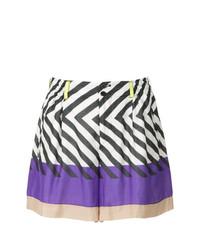 Pantalones Cortos Estampados Multicolor de Issey Miyake Vintage