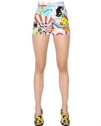Pantalones Cortos Estampados Multicolor de Moschino