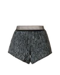Pantalones cortos estampados negros de DKNY