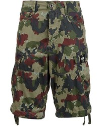 Pantalones cortos estampados verde oscuro
