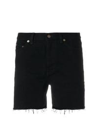 Pantalones cortos negros de Saint Laurent