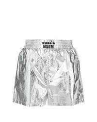 Pantalones cortos plateados de MSGM