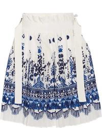 Pantalones cortos plisados blancos de Sacai