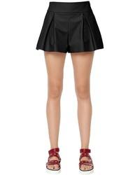Pantalones cortos plisados negros de RED Valentino