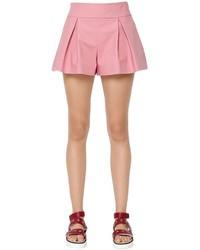 Pantalones cortos plisados rosados de RED Valentino