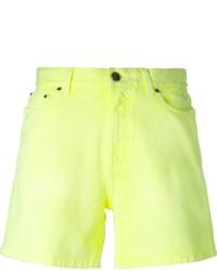 Pantalones cortos vaqueros amarillos de Christopher Kane